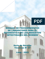Manual_ Procedimientos de Laboratorio Para El Diagnostico de Los Parasitos Intestinales Del Hombre