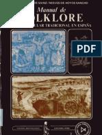 Manual de Folklore La Vida Popular Tradicional en Espana Luis y Nieves Hoyos