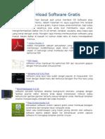 Daftar Download Software Gratis