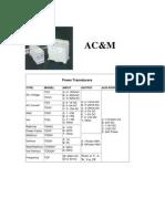 AC&M Power Transducers