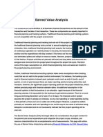Earned Value Analysis Method