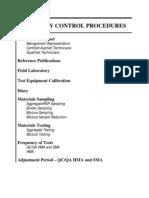 Quality Control Procedure