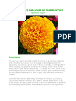 Importance and Scope of Floriculture