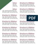 Cranberry Chicken Labels