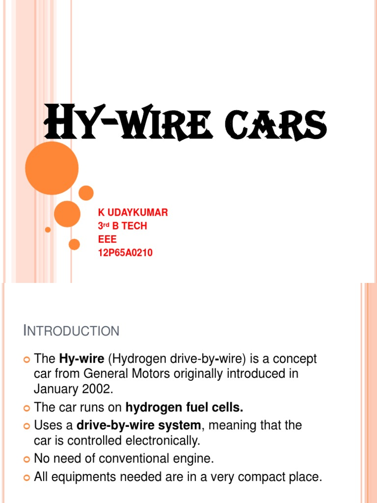 66255039 Hy Wire Cars Ppt | Vehicles | Electrical Engineering