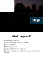 India Power Sector Grid Failure