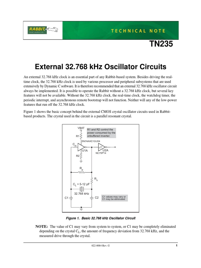 32768 Khz Oscillators For Rabbit Capacitor Electronic Oscillator Circuit Is Similar To The Transistor Version Of Hartley