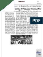 Rassegna Stampa 23.07.2013