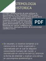 EPISTEMOLOGIA HISTORICA