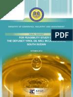 feasibility study Yirol oil mill report ,south Sudan