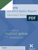 Experis IT Salary Report Q4 2012