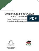 Citizens Guide to Public Procurement Procedures_ Timothy Mahea