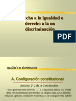 Derecho a La Igualdad o Derecho a la no discriminación