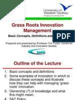Grass Roots Innovation UNESCO Tim Turpin