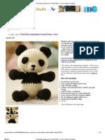 Panda Bear Amigurumi Crochet Pattern – Free! _ Angie's Art Studio