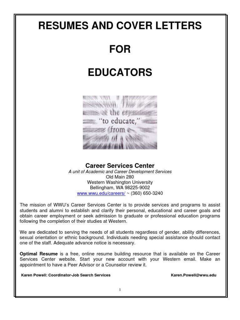 resumehandout_foreducators | Résumé | Teachers