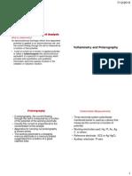 Voltammetry and Polarography