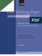 Monetary Poverty Estimates in Sri Lanka