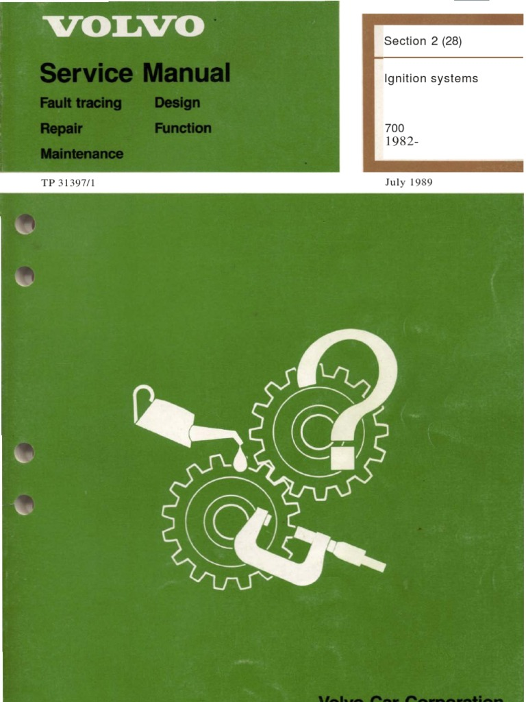 volvo tp 31397 1 ignition ignition system combustionVolvo 700 B230k Engine Ignition System Wiring Diagram Manual Guide #4