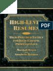 High Level Resumes
