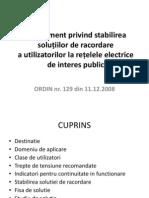 Prezentare-Regulament Privind Stabilirea Solutiilor de Racordare