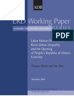 Labor Market Distortions, Rural-Urban Inequality, and the Opening of People's Republic of China's Economy