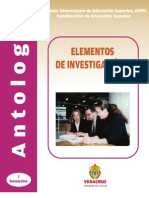 ELEMENTOS DE INVESTIGACIÓN I