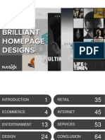 54 Examples of Brilliant Homepage Design