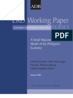 A Small Macroeconometric Model of the Philippine Economy