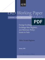 Foreign Exchange Reserves, Exchange Rate Regimes, and Monetary Policy