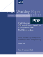 Empirical Assessment of Sustainability and Feasibility of Government Debt