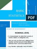 Statistics_scales and Sampling Techniques