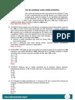 Exercícios de vestibulares - Média aritmética