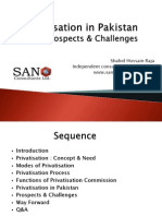 Privatisation in Pakistan-Challenges and Prospects