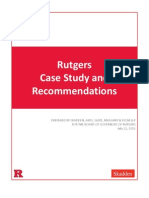 RUTGERS RELEASES RESULTS OF INDEPENDENT REVIEW