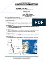 NDRRMC Update Re SitRep No. 9 Re Effects of Typhoon PEDRING (NESAT)