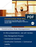 WSA Construction Risk Management