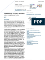 A Breakthrough Solution to Reclaiming Rubber-metal Bonded Parts. - Free Online Library