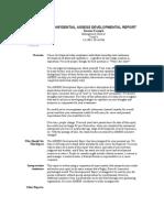Confidential Assess Developmental Report