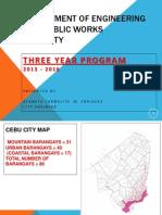 Cebu City Engineering 3-YEAR PROGRAM