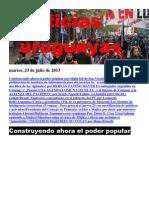 Noticias Uruguayas Martes 23 de Julio Del 2013