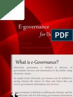 E Governance & I governance