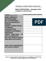 Formulário pré-inscrição 2013 setembro