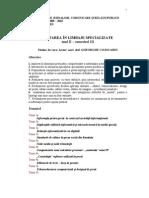 Editare in Limbaje Specializate Sinteza