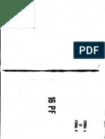 16 PF Caietul Testului