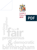 Leaders Policy Statement July 2013