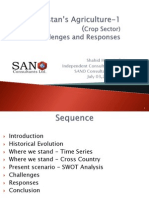 Pakistan's Agriculture Sector -1( Crops ) Challenges and Response