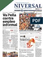 PORTADAS DE PERIÓDICOS NACIONALES 23-JUL-2013