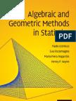 Algebraic and Geometric Methods in Statistics