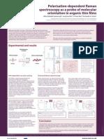 Polarisation-dependent Raman spectroscopy as a probe of molecular orientation in organic thin films